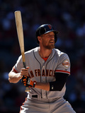 Apr 3, 2014, San Francisco Giants vs Arizona Diamondbacks - Hunter Pence Photographic Print by Christian Petersen
