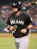 Jun 10, 2014, Miami Marlins vs Texas Rangers - Casey McGehee Photographic Print by Rick Yeatts