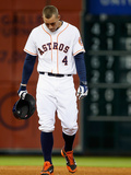 Jun 4, 2014, Los Angeles Angels of Anaheim vs Houston Astros - George Springer Photographic Print by Scott Halleran