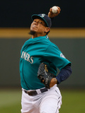 Jun 13, 2014, Texas Rangers vs Seattle Mariners - Felix Hernandez Photographic Print by Otto Greule Jr