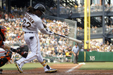 Jul 7, 2012, San Francisco Giants vs Pittsburgh Pirates - Andrew McCutchen Photographic Print by Justin K. Aller