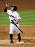 May 13, 2014, Texas Rangers vs Houston Astros - Jose Altuve Photographic Print by Scott Halleran