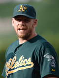 Jul 20, 2013, Oakland Athletics vs Los Angeles Angels of Anaheim - Brandon Moss Photographic Print by Harry How