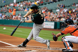 Apr 25, 2014, Oakland Athletics vs Houston Astros - Brandon Moss Photographic Print by Scott Halleran