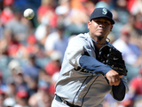 Sep 22, 2013, Seattle Mariners vs Los Angeles Angels of Anaheim - Felix Hernandez Photographic Print by Harry How