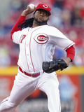 May 3, 2014, Milwaukee Brewers vs Cincinnati Reds - Johnny Cueto Photographic Print by Michael Hickey