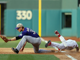 May 26, 2014, Colorado Rockies vs Philadelphia Phillies - Ben Revere, Justin Morneau Photographic Print by Rich Schultz