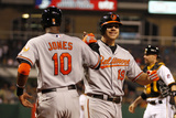 May 20, 2014, Baltimore Orioles vs Pittsburgh Pirates - Adam Jones, Chris Davis Photographic Print by Justin K. Aller