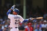 Mar 23, 2014, Los Angeles Dodgers vs Arizona Diamondbacks - Adrian Gonzalez Fotografisk tryk af Mark Kolbe