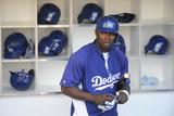 Jun 20, 2014, Los Angeles Dodgers vs San Diego Padres - Yasiel Puig Photographic Print by Denis Poroy