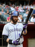 Apr 30, 2014, Colorado Rockies vs Arizona Diamondbacks - Charlie Blackmon Photographic Print by Christian Petersen