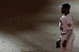 Jun 5, 2014, Los Angeles Angels of Anaheim vs Houston Astros - Jon Singleton Fotografisk tryk af Scott Halleran