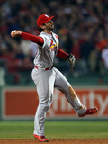 2013 World Series Game Six: Oct 30, St Louis Cardinals vs Boston Red Sox - Matt Carpenter Photographic Print by Rob Carr