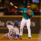 Jun 13, 2014, Texas Rangers vs Seattle Mariners - Shin-Soo Choo, Robinson Cano Photographic Print by Otto Greule Jr