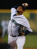 Aug 6, 2013, Toronto Blue Jays vs Seattle Mariners - Felix Hernandez Photographic Print by Otto Greule Jr