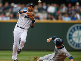 Jun 17, 2014, San Diego Padres vs Seattle Mariners - Chase Headley, Robinson Cano Photographic Print by Otto Greule Jr