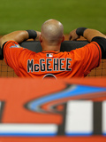 Mar 31, 2014, Colorado Rockies vs Miami Marlins - Casey McGehee Photographic Print by Mike Ehrmann
