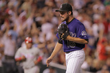 Aug 1, 2011, Philadelphia Phillies vs Colorado Rockies - Huston Street Photographic Print by Doug Pensinger