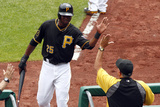 Jun 19, 2014, Cincinnati Reds vs Pittsburgh Pirates - Gregory Polanco, Clint Hurdle Photographic Print by Justin K. Aller