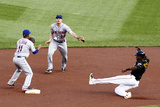 Jun 27, 2014, New York Mets vs Pittsburgh Pirates - Daniel Murphy, Gregory Polanco Photographic Print by Justin K. Aller