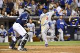 Jun 21, 2014, Los Angeles Dodgers vs San Diego Padres - Dee Gordon, Rene Rivera Photographic Print by Denis Poroy