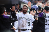 Apr 9, 2014, Chicago White Sox vs Colorado Rockies - Charlie Blackmon Photographic Print by Doug Pensinger