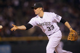 Apr 5, 2014, Arizona Diamondbacks vs Colorado Rockies - Justin Morneau Photographic Print by Doug Pensinger