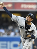 Jun 18, 2014, Seattle Mariners vs San Diego Padres - Felix Hernandez Photographic Print by Denis Poroy
