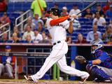 Jun 18, 2014, Chicago Cubs vs Miami Marlins - Giancarlo Stanton Fotografisk tryk af Rob Foldy