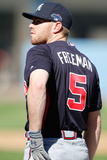 2013National League Division Series: Oct 6, Atlanta Braves vs Los Angeles Dodgers - Freddie Freeman Photographic Print by Rob Leiter