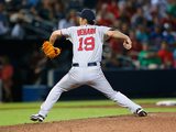 May 27, 2014, Boston Red Sox vs Atlanta Braves - Koji Uehara Photographic Print by Kevin C. Cox