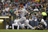 Jun 14, 2014, Cincinnati Reds vs Milwaukee Brewers - Todd Frazier Photographic Print by Mike McGinnis