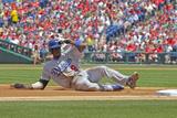 May 25, 2014, Los Angeles Dodgers vs Philadelphia Phillies - Dee Gordon Photographic Print by Hunter Martin