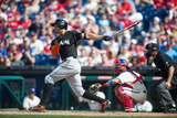 Apr 13, 2014, Miami Marlins vs Philadelphia Phillies - Giancarlo Stanton Photographic Print by Rob Tringali