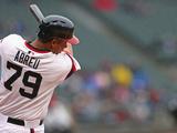 Apr 13, 2014, Cleveland Indians vs Chicago White Sox - Jose Abreu Photographic Print by Jonathan Daniel