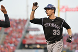 May 10, 2014, Colorado Rockies vs Cincinnati Reds - Justin Morneau Photographic Print by Jamie Sabau