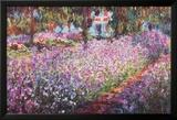En hage i Giverny Plakater av Claude Monet