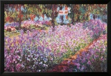 De tuin in Giverny Poster van Claude Monet