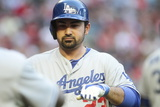 Apr 12, 2014, Los Angeles Dodgers vs Arizona Diamondbacks - Adrian Gonzalez Photographic Print by Jason Wise