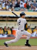 Jun 13, 2014, New York Yankees vs Oakland Athletics - Derek Jeter Fotografisk tryk af Ezra Shaw