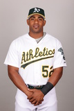 2014 Oakland Athletics Photo Day: Feb 22 - Yoenis Cespedes Photographic Print by Jason Wise