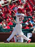 Jun 18, 2014, New York Mets vs St. Louis Cardinals - Matt Carpenter Photographic Print by Jeff Curry