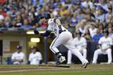 Jun 02, 2014, Minnesota Twins vs Milwaukee Brewers - Jonathan Lucroy Photographic Print by Mike McGinnis