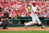 Apr 27, 2014, Pittsburgh Pirates vs St. Louis Cardinals - Matt Holliday Photographic Print by Dilip Vishwanat