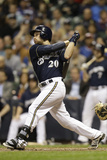 May 13, 2014, Pittsburgh Pirates vs Milwaukee Brewers - Jonathan Lucroy Photographic Print by Mike McGinnis