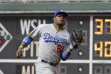 May 24, 2014, Los Angeles Dodgers vs Philadelphia Phillies - Yasiel Puig Photographic Print by Hunter Martin