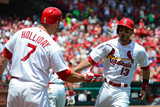 Jun 18, 2014, New York Mets vs St. Louis Cardinals - Matt Carpenter, Matt Holliday Photographic Print by Jeff Curry