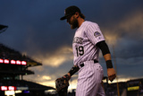 May 2, 2014, New York Mets vs Colorado Rockies - Charlie Blackmon Photographic Print by Doug Pensinger