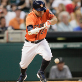 May 2, 2014, Seattle Mariners vs Houston Astros - Jose Altuve Photographic Print by Bob Levey