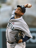 Jun 20, 2013, Seattle Mariners vs Los Angeles Angels of Anaheim - Felix Hernandez Photographic Print by Stephen Dunn